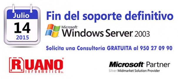 Fin de vida Microsoft Windows Server 2003