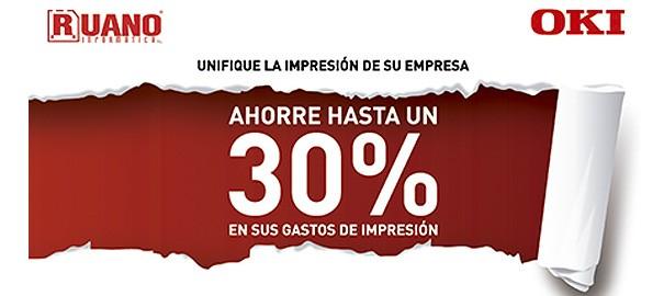 Unifique la impresión de su empresa – Ahorre hasta un 30% como mínimo