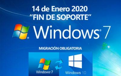 Fin de soporte de Windows 7 el 14 de Enero de 2020