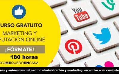 CURSO DE MARKETING Y REPUTACIÓN ONLINE180 horas 100% Gratuito·#YOMEQUEDOENCASA #FORMATEENCASA