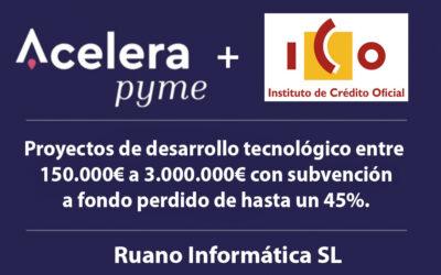 """RED.ES Y EL INSTITUTO DE CRÉDITO OFICIAL LANZAN LA LÍNEA """"ICO- RED.ES ACELERA"""" SUBVENCIONES PARA EL DESARROLLO DE TECNOLOGÍAS DIGITALES"""