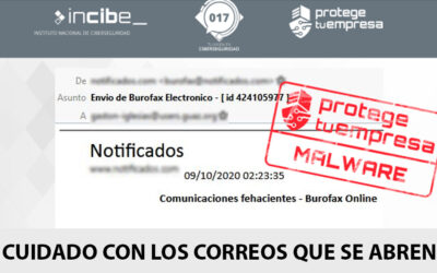 UN BUROFAX FALSO POR CORREO ELECTRÓNICO INTENTA INFECTAR TU DISPOSITIVO CON MALWARE